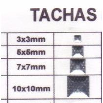 Tachas Cuadradas Planas Y Piramidales Bolsa X 100 Unidades