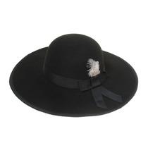 Sombrero Capelina Fieltro Con Lazo Las Penelope