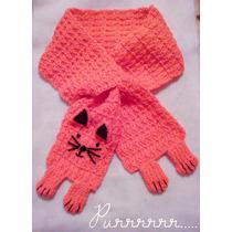 Bufanda Gatito Tejida A Mano / Peanut Knitting & Handmade