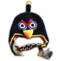 A Pedido Gorros Orejeras Trenzas Crochet Lana Angry Birds