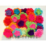 Flores Dobles Tejidas Crochet Pack X 10 Ideal Deco Souvenirs