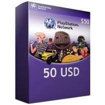 Tarjeta Psn Card 50 Usd - Ps4 Ps3 Entrega Inmediata Cta Usa