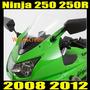 Burbuja Parabrisa Doble Para Moto Kawasaki Ninja 250r Clear