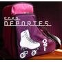 Bolso Mochila P/ Patines Artisticos Rollers Hielo Jockey