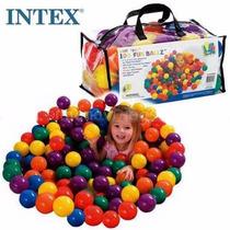 Pelotitas De Colores Plasticas 6,5cms De Intex (bolso X 100)