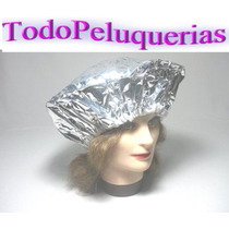 10 Gorros Metalizados Termicos P/ Baño De Crema * Decoloraci