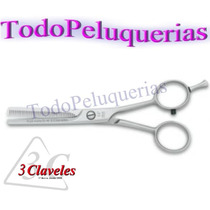 Tijera Profesional Pulir 3 Claveles España 40 Dientes 5,5
