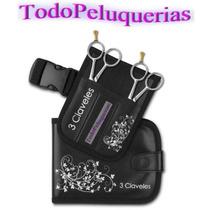 Kit Tijera De Corte + Pulir + Navaja + Porta Tijeras + Funda
