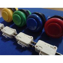 Boton Eago Completo Con Micro Cherry Para Arcade