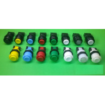 Pack 4!! Botónes Mame Redondos Para Arcade Profesional
