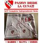Ajuar Independiente Bebe De Babero Manta Gorro Envio Gratis