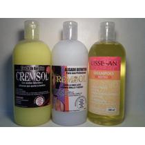 Super Combo 500 Cc: Alisado+queratina+ Shampoo De Regalo
