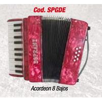 Acordeon 8 Bajos Tecla Piano Profesional + Metodo +envio