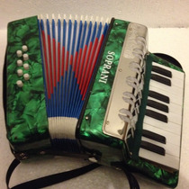 Acordeon Infantil 8 Bajos Tecla Piano+ Metodo +envio
