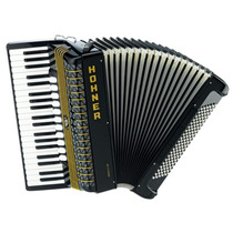 Acordeon Hohner Atlantic 120 Negro 120 Bajos C/estuches