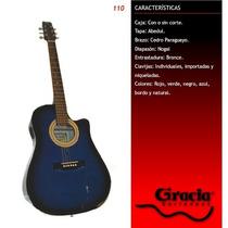 Guitarra Electroacustica Gracia 110 Eq Ecualizador Zurdo