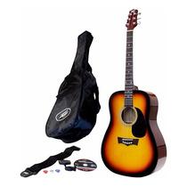 Guitarra Acustica Peavey Combo Afinador Dvd Funda Correa Pua