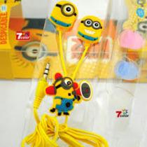 Auriculares Personaje Minions 3d Samsung Motorola Iphone Lg