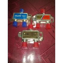 Derivador Spliter De Señal Catv 1 Ent 2 Salidas 1000 Mhz