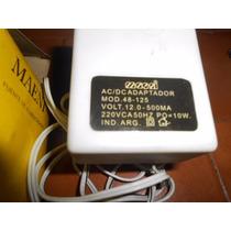 Transformador Fuente 220 Volts Ac 12 Volts Dc 500 Ma
