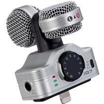 Zoom Iq7 Micrófono Stereo Profesional Para Ipad, Iphone