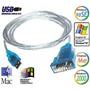 Cable Adaptador Usb 2.0- Serial Serie Puerto Macho Db9 Rs232
