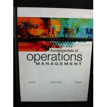Fundamentals Operations Management Davis Aquilano Chase Z3
