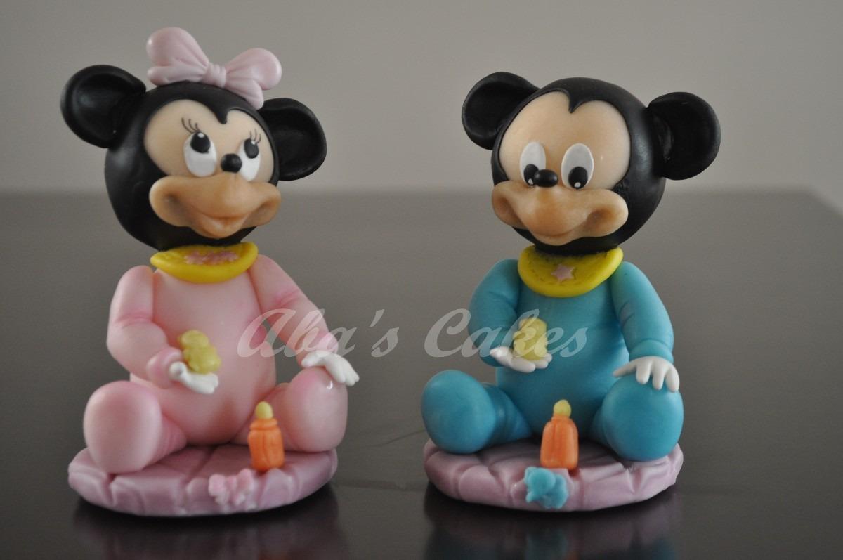 Adorno Para Torta Mickey/minnie Bebe Porcelana Fria - $ 80,00 en ...