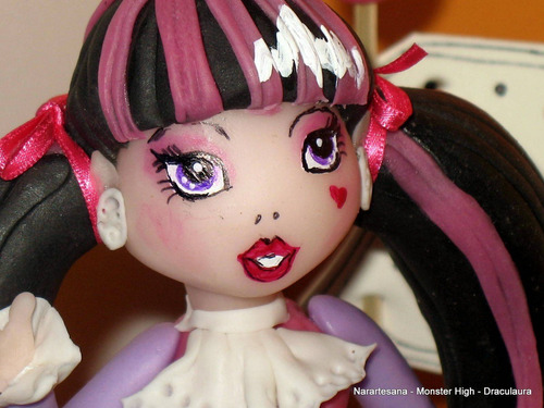 Adorno Para Torta Monster High Porcelana Fría Narartesana