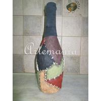 Botellas Decoradas Originales Florero Centro De Mesa