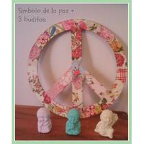 Símbolo De La Paz + 3 Minibuditas..