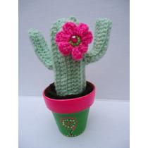 Cactus Crochet En Macetas Decoradas, Ideal Regalo Original