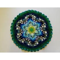 Carpeta/mandala Tejida A Crochet