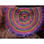 Alfombra Circular De Totora Al Crochet