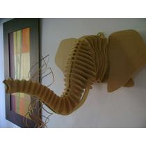 Cabeza De Elefante En Mdf 3d