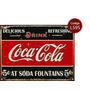 Cartel De Chapa Vintage Publicidad Antigua Coca Cola Varias