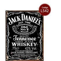 Cartel Chapa Publicidad Antigua Whisky Jack Daniels Varias