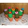 Regalo Navidad - Cactus Tejidos En Maceta