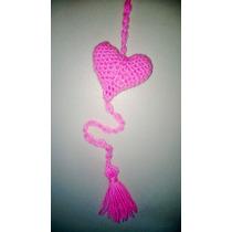 Corazones Tejido Crochet Souvenir Móviles Cortinas Guirnalda