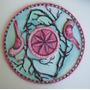Mandala En Madera Pintada Con Pintura Rocalla Decoración