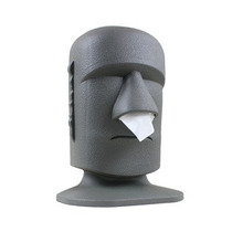 Dispenser De Pañuelos Stone Head Moái *tiendadenda*