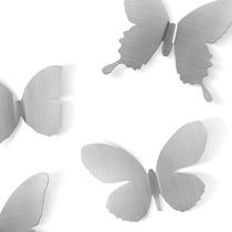 Set X9 Mariposas Metalicas De Pared Níquel Morph