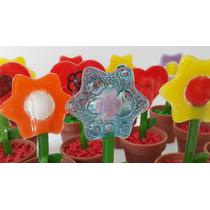 Flores Decorativas En Vidrio - Vitrofusion
