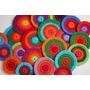 10 Circulos De Lana Colores A Elección 9 Cm -artesanias