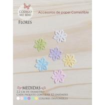 Flores En Papel Comestible Mi 4041
