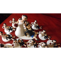 Central Para Torta De Bodas/casamientos En Porcelana Fria.