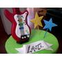 Guitarras C/auriculares - Adorno De Torta - Porcelana Fría.