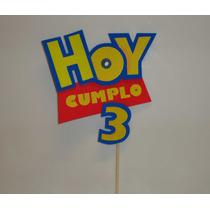 Toy Story Cartel Decumpleaños Para La Torta En Goma Eva