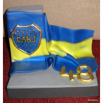 Adorno Para Torta Clubes De Fútbol - Bandera Boca Juniors