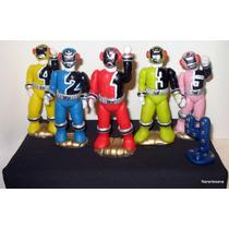Power Rangers Adorno Para Torta Porcelana Fría Narartesana